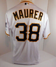 2019 Pittsburgh Pirates Brandon Maurer #38 Game Issued White Jersey PITT33371