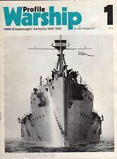 Warship Profile 01 RN BB HMS Dreadnought 1906-1920 (Profile 1970 1st) J Wingate