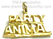 Party Animal Charm Word Pendant EP Gold Plated Jewelry Lifetime Guarantee!