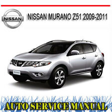 NISSAN MURANO Z51 2009-2011 REPAIR SERVICE MANUAL ~ DVD