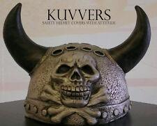 KUVVERS Skull & Horns Helmet Cover - Silver Horns - NEW - Free Postage