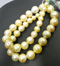 Fabulous! 465 carat South sea Pearl necklace 8mm to 14mm