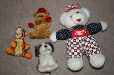 PLUSH ANIMAL LOT stuffed toys CHRISTMAS BEAR disney dog TIGGER POUCH WALLET usa