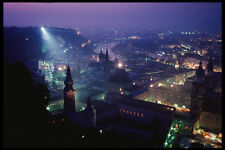 222069 Night View From The Fortress To Old Town A4 Photo Print