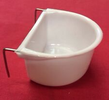 Dog Cat Bird Rabbit Cage Clip On Water Food Bowl Countainer 2 Hook Coop Cup7.5cm