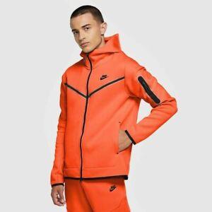 Nike Tech Fleece Hoodie Jacke Orange XL