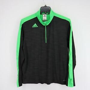Mens Adidas Basketball CrazyGhost Black Pullover Shirt Jacket Size XL 1/4 Zip