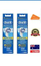 8x ORAL B PRECISION CLEAN BRAUN NEW ORAL-B TOOTHBRUSH HEADS REPLACEMENT