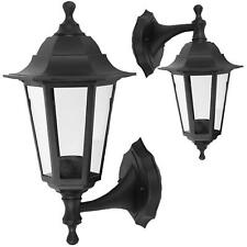 Wall-Mounted Outdoor Lantern Style Lamp Garden Light 250x165 Black