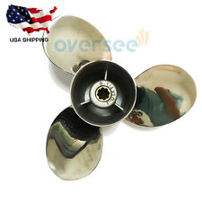 Stainless Steel Propeller 63V-45952-10 9 1/4x10 For Yamaha Outboard 9.9HP 15HP