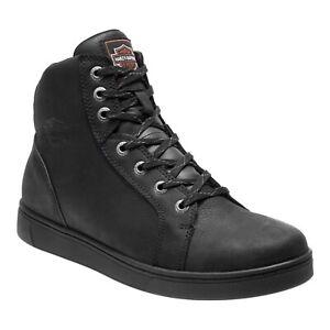 Harley Davidson Men's Watkins Black Leather Riding Sneaker Shoes D93517