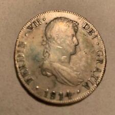 1814 Bolivia - Potosi 8 Real Siver Coin -