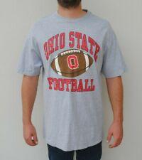 Vintage Ohio State Buckeyes Size XL Football Long T Shirt Grey 90s NFL USA NBA