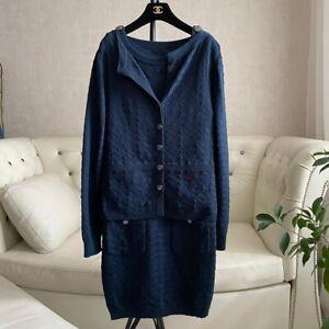CHANEL 100% Authentic 🌈 5.000$ Cotton Knit Two Piece Set Suit  38FR - M size