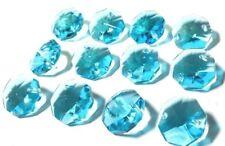 50 Aquamarine Octagon Chandelier Crystal Beads Octagons