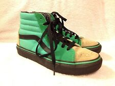 Vans womens custom design green brown shoes size 6 nice!
