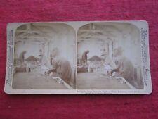 1901 SORTING DIAMONDS DE BEERS MINES KIMBERLEY SOUTH AFRICA STEREOVIEW