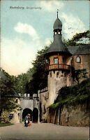 Lunzenau Sachsen 1913 Rochsburg Burg Burgeingang Eingang Burgturm Turm Bauwerk