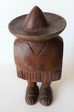 J. Pinal Signed Hand carved Wood Sculpture Made in Mexico