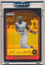 LUIS CASTILLO 2003 BOWMAN CHROME #36 GOLD REFRACTOR MARLINS SP #090/170 $12