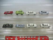 q45-1 # 8 x WIKING H0 MODELLI ARTIGIANO MERCEDES / MB 200, taxi, UNIMOG,
