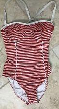Nautica women's  swimwear bathing suit one piece red white patriotic size 10 NWT