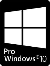 x80 22x16mm Pro Windows 10 Stickers PC Laptop notebook computer decal SKU
