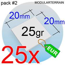 25x SQUARE CLEAR ACRYLIC BASE 20mm CUADRADA METACRILATO TRANSPARENT SOCLE
