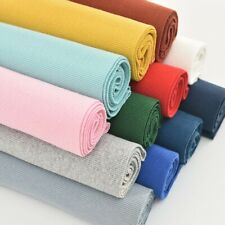 Solid Stretch Knit Cuff Waistband Leg Arms Rib Trim Jersey Ribbed Fabric