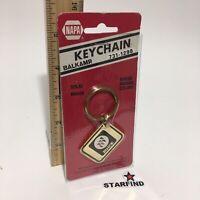 Vtg Retro Napa 1970's 1980's Toyota Solid Brass Keychain Key Ring NOS Old Stock