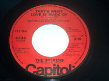 45 RPM The Sylvers Hot Line, What Love Is Made Of Capitol Vinyl Record 4336 VG+