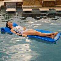 """Texas Rec 70"""" x 25"""" x 1.25"""" Sunray Swimming Pool Foam Mattress Float - Blue"""