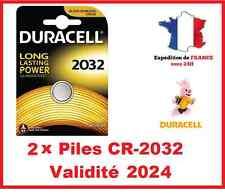 2 Pile CR-2032 DURACELL bouton Lithium 3V DLC 2025