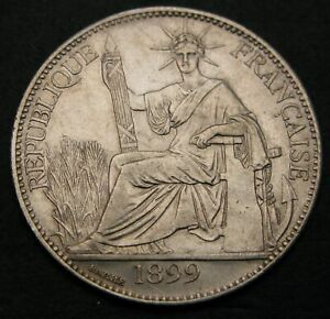 FRENCH INDO CHINA 20 Cents 1899 A - Silver - VF - 1559