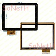 "Vetro Touch screen Digitizer 9,7"" Freelander PD70 Tablet PC Nero"