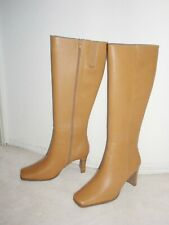New Women's Size # 10 Camel Genuine Leather Knee High Fashion Boots