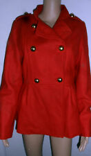 NEW Look Rosso Misto Lana Cappotto, Rock Chick, ROCK 'N' ROLL, Rockabilly, Nuovo di Zecca