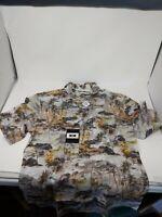Joseph Abboud Mens Trees Short Sleeve Casual Hawaiian Shirt - Size Medium - D1