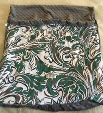 fdb9b6b7d Car Seat Canopy Boys 2 Sided Gray Minky Fleece Green White Leaves Floral