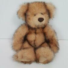 "Russ Berrie Madison Plush Teddy Bear 12"" 24107 Handsome Two Tone Long Fur"
