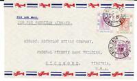 Hong Kong CHINA SG#155,#157($2value)#153-VICTORIA 13/AU/40-TRANSPACIFIC