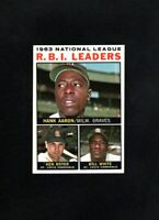 1964 TOPPS #11 NL RBI LEADERS AARON/BOYER/WHITE NM/MT (OR BETTER)
