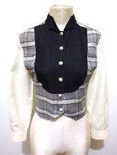 ROCCOBAROCCO VINTAGE 80 Camisa De Mujer Lino Blusa Lino mujer camisa Sz. S - 42