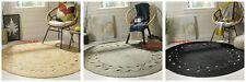 Jute Round Rug 100% Natural Jute Style Rug Reversible Braided Modern Rustic Look