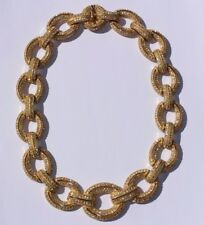 100% Authentic CHRISTIAN DIOR Runway Haute Couture Large Chunky Link Necklace