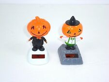 Two Halloween Solar Dancing Pumpkin Men