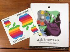Vtg 1995 Apple Macintosh Mac Resource Training Support Service Rainbow Stickers