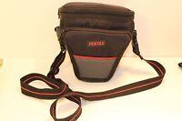 """Pentax Camera Bag vintage canvas SLR or Digital Camera with lens 6.5"""" long"""
