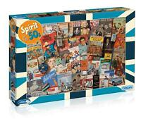 GIBSONS SPIRIT OF THE 50s - 1000 PIECE JIGSAW PUZZLE, LONE RANGER, ELVIS & MORE