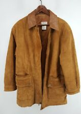 Womens Talbots Petites Long Brown Soft Leather Jacket
